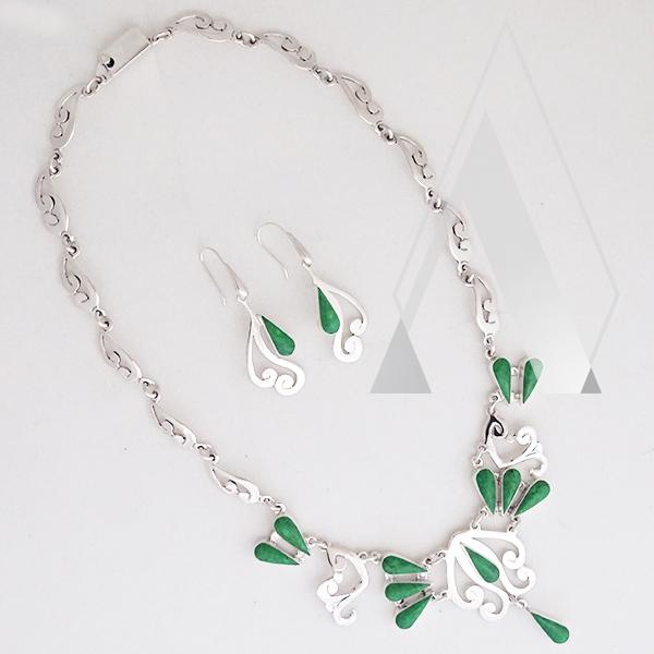 collar de plata .950